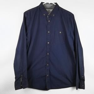 Cotton On Shirts - COTTON ON Navy Blue Men's Casual Dress Shirt